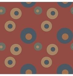 Bubble circles geometric seamless pattern vector image