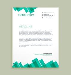 Abstract letterhead template vector
