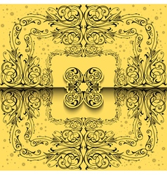 Abstract ornament background vector image vector image