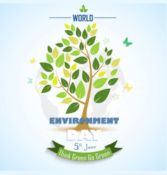 Abstract tree for world environment day vector