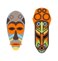 African mask set vector
