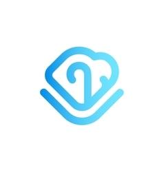 B2b logo design concept isolated on white vector