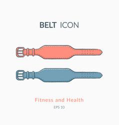 Belt for back protection vector