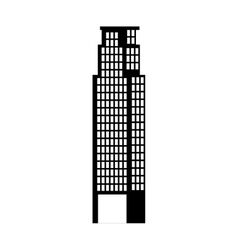 Big building silhouette icon vector