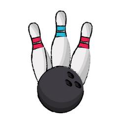 Bowling pin sport ball vector
