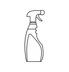 Cleaner for windows icon outline style vector