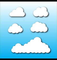 Cloud Set Cartoon Style vector image vector image