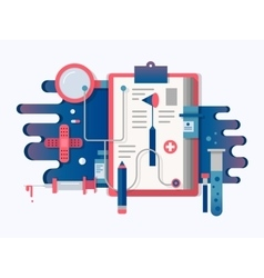Doctor tools design flat vector image