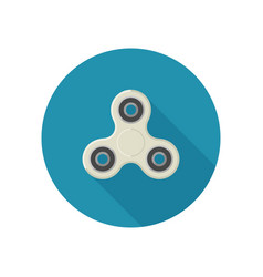 fidget spinner in flat style vector image vector image
