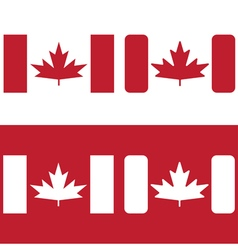 flag of canada red maple leaf design template vector image vector image