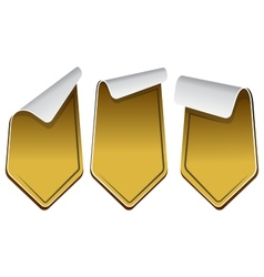 Gold stickers set vector image vector image