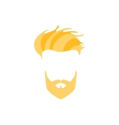 Hipster male hair and facial style with full vector
