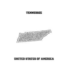 Label with map of tennessee vector