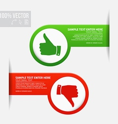 Labels with thumb up and thumb down vector