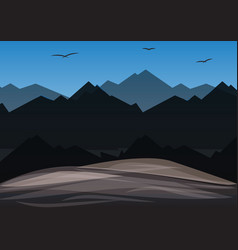 landscape mountain vector image
