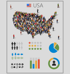 large group of people in united states of america vector image vector image