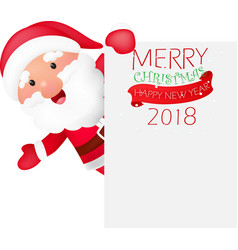 merry christmas background with santa claus vector image vector image