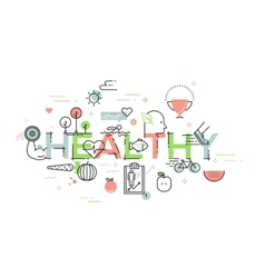 Modern thin line design concept for healthy vector image vector image