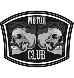 Motor club skull vector