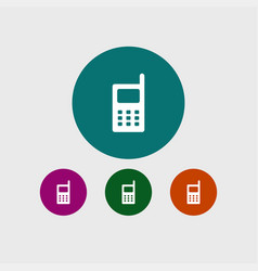 phone icon simple vector image vector image