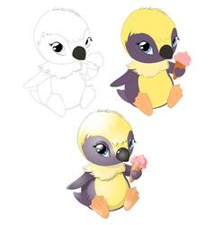 pingvin2 vector image vector image