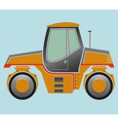 Road roller vector image