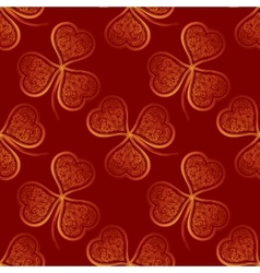 Seamless Pattern Golden Clover vector image vector image