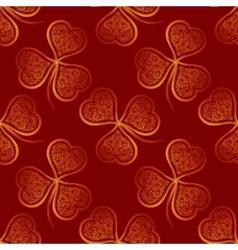 Seamless pattern golden clover vector