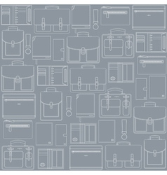 seamless pattern with leather goods vector image vector image