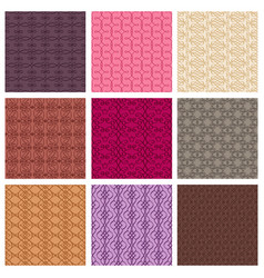 set of colored patterns vector image vector image