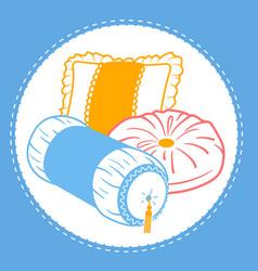 Shapes cushion set icon vector