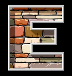 stone letter E vector image vector image