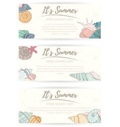summer paradise holiday marine card vector image vector image