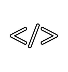 Symbol code black color icon vector