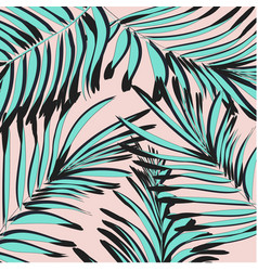 Tropical palm leaf background floral vector