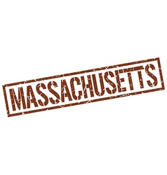 Massachusetts brown square stamp vector
