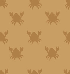 Crabs on brown vector