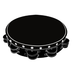 Musical instrument tambourine vector