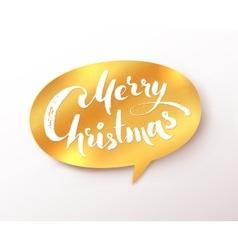 Golden merry christmas banner vector