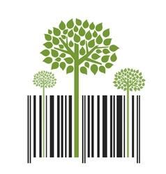 Nature Trees Bar Code vector image