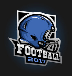 american football helmet games 2017 emblem vector image