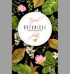 Tropial plants banner vector