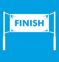 Finish line gates icon white vector
