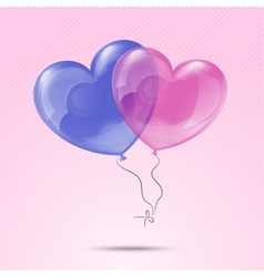 Love heart balloons vector