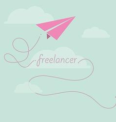 Paper plane as freelancer vector image
