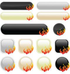Flame banner elements vector