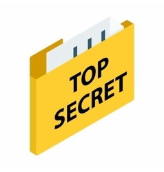 Top secret package isometric 3d icon vector image