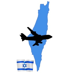 fly me to the Israel vector image