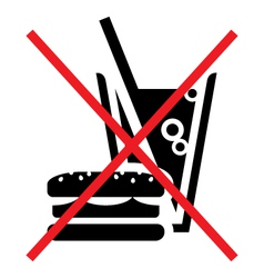 No fast food vector