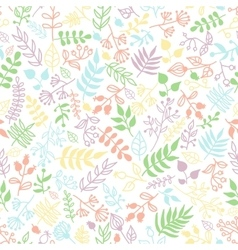 Doodle rustic floral pattern vector